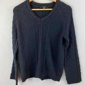 Ann Taylor Mixed Stitch Cable Knit Sweater Lp